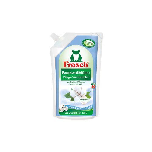 Rex Frosch Pflege Weichspüler, Auf pflanzlicher Basis, 1000 ml - Beutel, Baumwollblüten