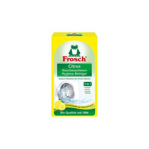 Rex Frosch Citrus Waschmaschinen Hygienereiniger, Sanft reinigender Waschmaschinenreiniger, 1 Karton = 6 Packungen à 250 g
