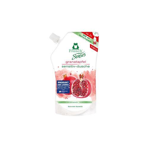 Rex Frosch Senses Sensitiv-Dusche Duschgel, Besonders hautschonende Duschpflege, 500 ml - Nachfüllbeutel, Granatapfel