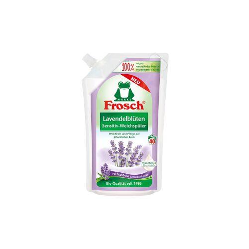 Rex Frosch Sensitiv-Weichspüler, 1000 ml - Beutel, Textilerfrischer auf pflanzlicher Basis, Lavendelblüten