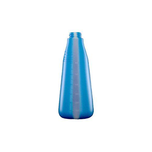 De Witte Leerflasche, 600 ml, Universelle leere Polyethylenflasche, Farbe: blau