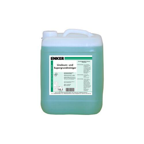 Linker Linoleumreiniger und Supergrundreiniger, Spezialgrundreiniger für Linoleumböden, 10,1 Liter - Kanister