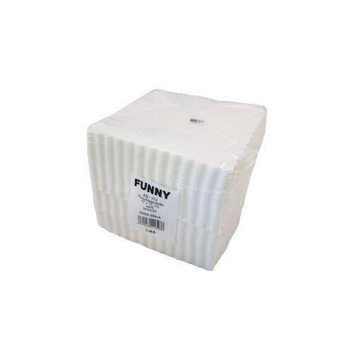 Piccoloservietten ca. 17 x 17 cm, weiß, 1 Karton = 10 x 2000 Stück