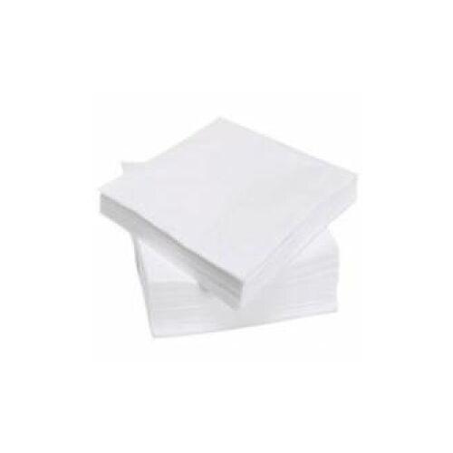 Servietten, 33 x 33 cm, 3-lagig, weiß, Tafelserviette 100 % Zellstoffpapier, 1 Karton = 1.500 Stück 1/4 Falz