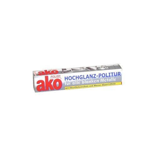 DELU-AKO-MINKY GmbH ako® Polish Hochglanz-Politur, für alle blanken Metalle, mit Abperl-Effekt, 100 ml - Tube