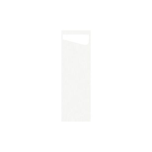 Duni GmbH & Co. KG DUNI Sacchetto Serviettentaschen Airlaid SLIM, Praktische Bestecktasche, 1 Karton = 4 x 60 Stück = 240 Stück, weiß