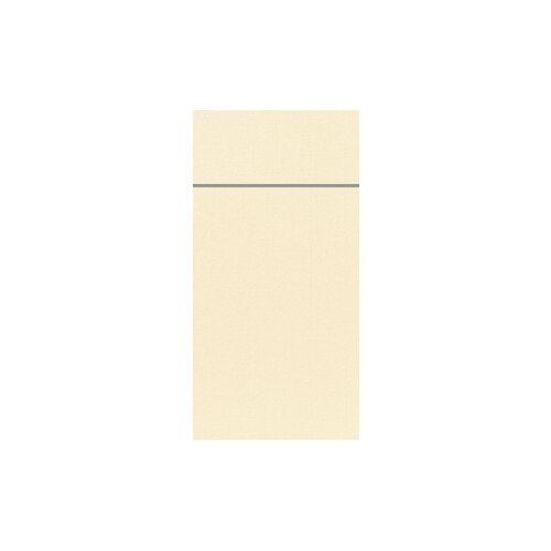 Duni GmbH & Co. KG DUNI Duniletto-Slim Bestecktasche, Serviettentasche aus hochertigem Material, Maße: 40 x 33 cm, 1 Karton = 4 x 65 Stück, champagne