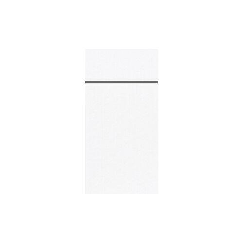 Duni GmbH & Co. KG DUNI Duniletto-Slim Bestecktasche, Serviettentasche aus hochertigem Material, Maße: 40 x 33 cm, 1 Karton = 4 x 65 Stück, weiß