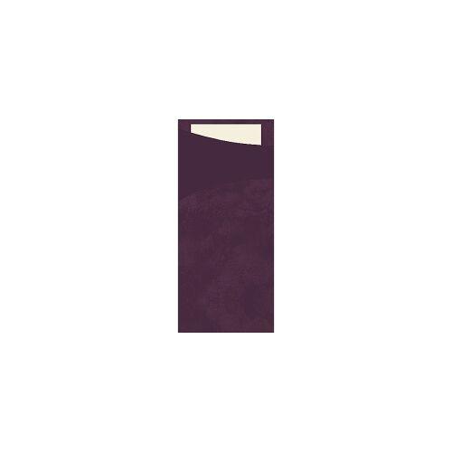 Duni GmbH & Co. KG DUNI Sacchetto Serviettentaschen, Tissue, Praktische Bestecktasche, 1 Karton = 5 x 100 Stück, Farbe: plum