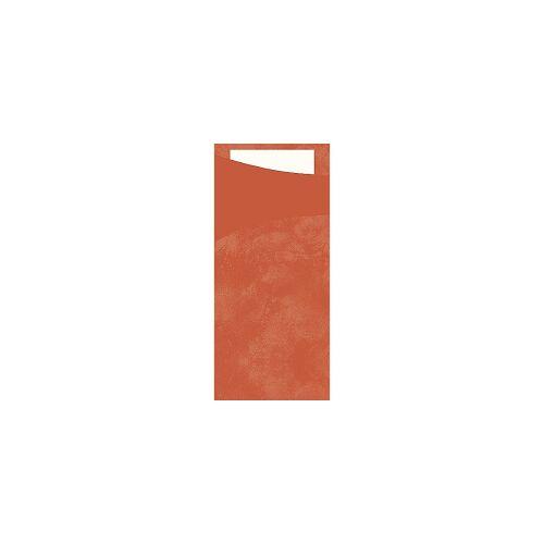 Duni GmbH & Co. KG DUNI Sacchetto Serviettentaschen, Tissue, Praktische Bestecktasche, 1 Karton = 5 x 100 Stück, Farbe: mandarin