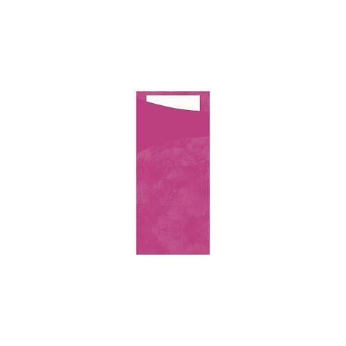 Duni GmbH & Co. KG DUNI Sacchetto Serviettentaschen, Tissue, Praktische Bestecktasche, 1 Karton = 5 x 100 Stück, Farbe: fuchsia