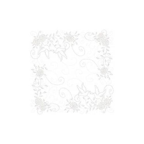 """Mank GmbH Tissue + Paper Products """"Mank Airlaid Servietten Festival """"""""Hochzeit"""""""", 40 x 40 cm, 1/4 Falz, 60 g, Farbe: hellgrau-silber, 1 Karton = 6 x 50 Stück = 300 Servietten"""""""