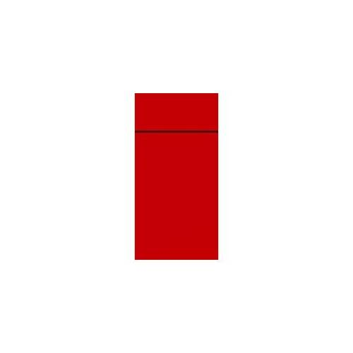 Duni GmbH & Co. KG DUNI Duniletto-Slim Bestecktasche, Serviettentasche aus hochertigem Material, Maße: 40 x 33 cm, 1 Karton = 4 x 65 Stück, rot