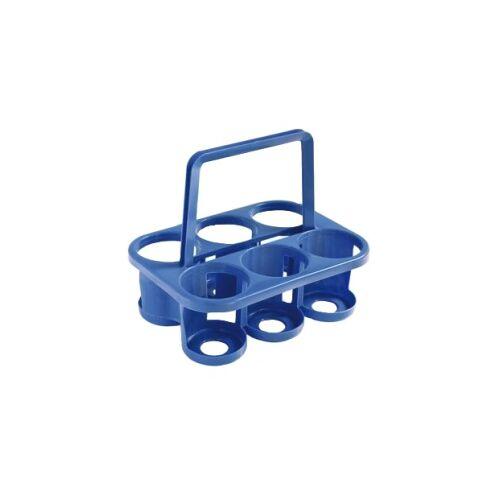 Teko-Plastic Kunstoffwerke E. Schröck GmbH Bekaform Flaschenträger, Sechserträger für 1 Liter oder 1,5 Liter PET-Flaschen, Farbe: blau