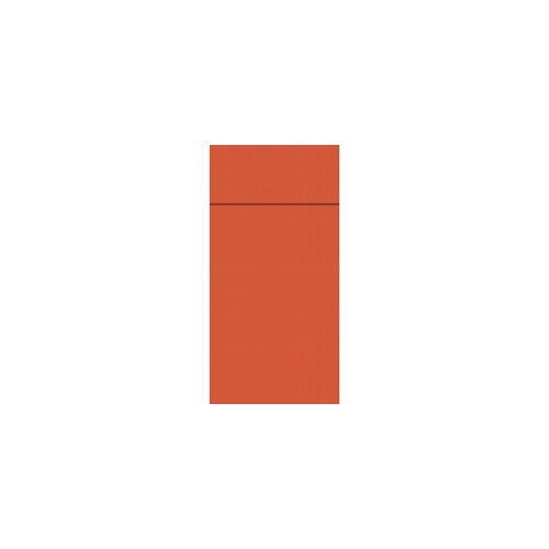 Duni GmbH & Co. KG DUNI Duniletto-Slim Bestecktasche, Serviettentasche aus hochertigem Material, Maße: 40 x 33 cm, 1 Karton = 4 x 65 Stück, mandarin