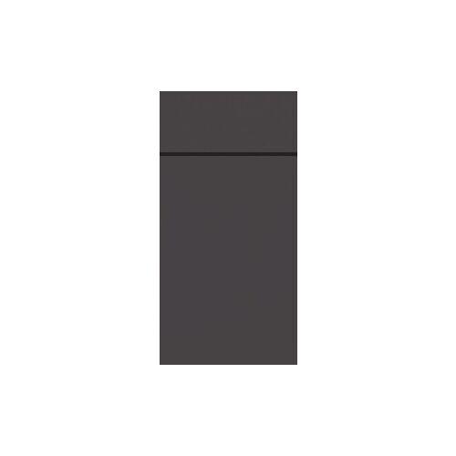 Duni GmbH & Co. KG DUNI Duniletto-Slim Bestecktasche, Serviettentasche aus hochertigem Material, Maße: 40 x 33 cm, 1 Karton = 4 x 65 Stück, granite grey