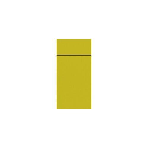 Duni GmbH & Co. KG DUNI Duniletto-Slim Bestecktasche, Serviettentasche aus hochertigem Material, Maße: 40 x 33 cm, 1 Karton = 4 x 65 Stück, kiwi