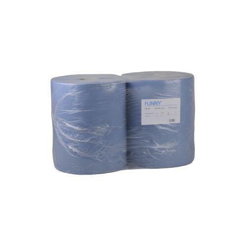 Papierputztuch auf Rolle, 36 x 34 cm, 2-lagig, blau, 1 Paket = 2 Rollen à 1000 Blatt = 340 Meter, 1 Paket