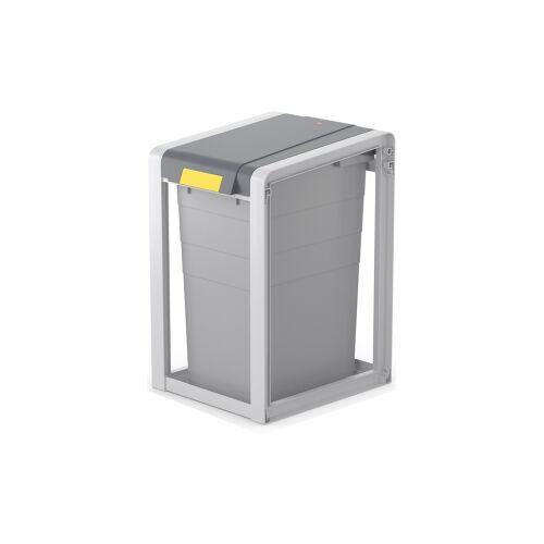 Hailo Werk Hailo ProfiLine Öko XL Mülltrennsystem, 38 Liter, Flexibles Mülltrennsystem inkl. Farbsticker zur Müllsorten-Kennzeichnung, Maße (B x H x T): 35,5 x 56,5 x 41 cm