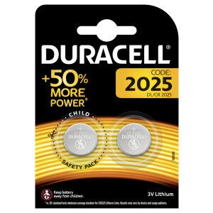 Procter & Gamble Service GmbH DURACELL Lithium 2025 Knopfzelle – 3 V, DL2025, CR2025, ECR2025, 1 Packung = 2 Stück