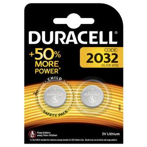 Duracell Lithium 2032 Knopfzellenbatterie, DL2032, CR, BR2032, CR2032, 1 Packung = 2 Stück