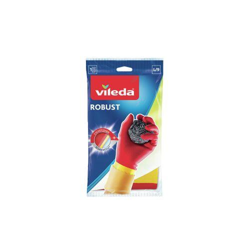 Vileda GmbH Vileda Handschuhe - Der Robuste, Haushaltshandschuhe aus Latex, Größe L (groß)