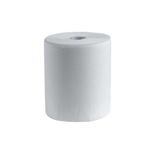 CWS Hygiene Deutschland GmbH & Co. KG CWS Rollenpapier, 3-lagig, Weiches und saugfähiges Rollenpapier mit gut frottierender Prägung, 1 Paket = 6 Rollen à 100 Meter, blau