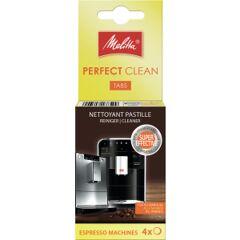 Melitta PERFECT CLEAN Tabs für Kaffeevollautomaten, Reinigungstabs zur hygienischen Reinigung des Kaffeesystems, 1 Packung = 4 Tabs à 1,8 g