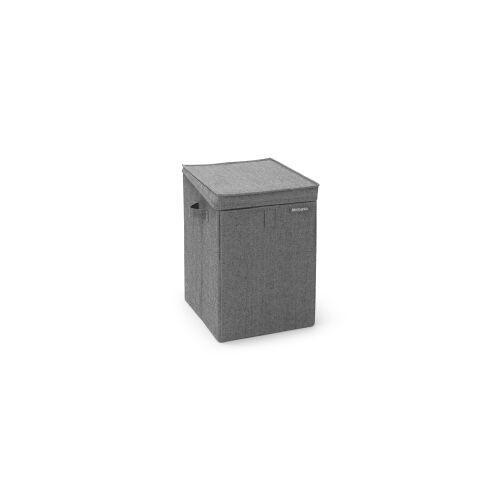 Brabantia International B.V. Brabantia Stapelbare Wäschebox, 35 Liter, Wäschesammler ideal zum Sortieren Ihrer Wäsche, Farbe: Pepper Black
