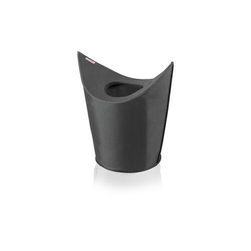 Leifheit AG LEIFHEIT Wäschesammler, Wäschekorb zum leichten Befüllen und zwei Tragegriffen zum leichten Transport, Farbe: schwarz