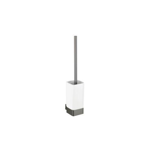 Wenko-Wenselaar GmbH & Co. KG WENKO Montella WC-Garnitur, Toilettenbürstenhalter aus Keramik, Maße (B x H x T): 7,3 x 40 x 10,3 cm