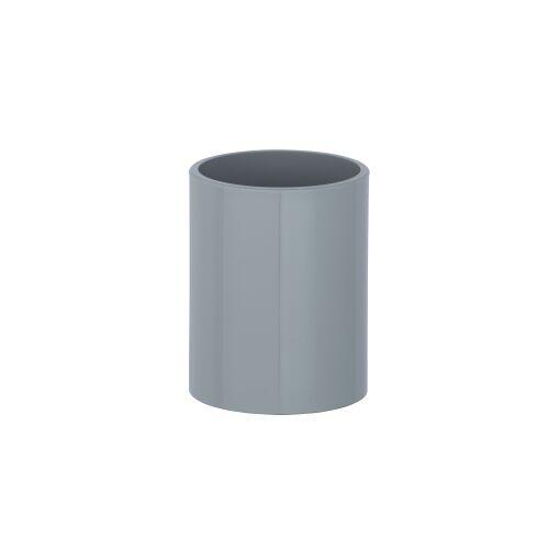 Wenko-Wenselaar GmbH & Co. KG WENKO Inca Zahnputzbecher, Zur Aufbewahrung von Zahnbürsten und Zahnpasta, Maße: Ø 8 x 10 cm, Farbe: grau