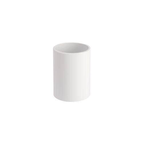 Wenko-Wenselaar GmbH & Co. KG WENKO Inca Zahnputzbecher, Zur Aufbewahrung von Zahnbürsten und Zahnpasta, Maße: Ø 8 x 10 cm, Farbe: weiß