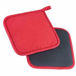 Westmark GmbH WESTMARK Topflappen, Größe: 19,5 x 20,0 x 2,0 cm, 1 Set = 2 Stück, Farbe: rot/schwarz