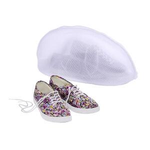 Wenko-Wenselaar GmbH & Co. KG WENKO Schuh-Wäschenetz, Schützt die Schuhe und andere Wäschestücke, Maße: 40 x 23 x 23 cm, Farbe: weiß