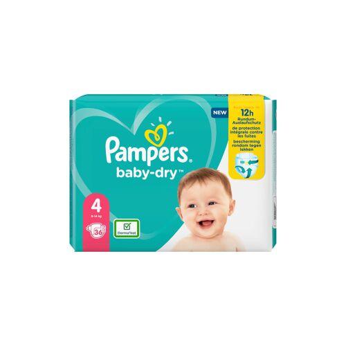 Procter & Gamble Service GmbH Pampers Baby Dry Maxi Windeln 9-14 kg, Größe 4, Ideale Windeln mit besten Schutz für die empfindliche Haut Ihres Babys, 1 Packung = 36 Windeln