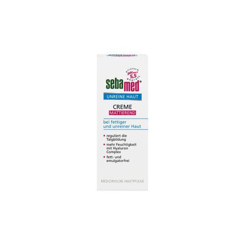 sebamed® Unreine Haut Creme Mattierend, Bei fettiger und Unreiner Haut; mattiert und verfeinert das Hautbild, 50 ml - Tube