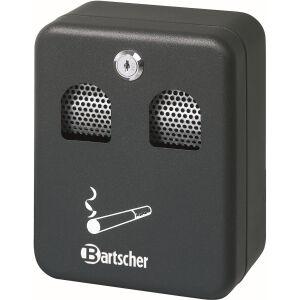 Bartscher GmbH Bartscher Wandascher, schwarz, Abschließbarer Aschenbecher mit einfacher Entleerung über die Frontklappe, Fassungsvermögen: 1 Liter