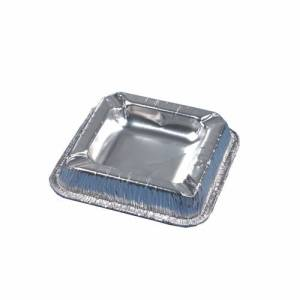 PAPSTAR Vertriebsgesellschaft mbH & Co. KG Papstar Aschenbecher, eckig, aus Alu, Format:1,9 cm x 12,5 cm x 12,5 cm, 1 Packung = 50 Stück, Farbe: silber