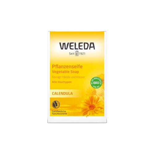 Weleda AG Weleda Calendula-Pflanzenseife, Hochwertige Seife reinigt besonders mild, 1 Stück, 100 g