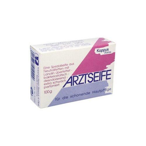 Kappus Arztseife, Seife für die schonende Hautpflege, 100 g - Stück in Faltschachtel