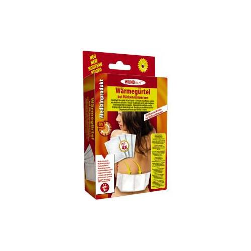 WUNDmed GmbH & Co. KG WUNDmed® Wärmetherapie Wärme-Gürtel, Wärmegürtel-Pad zur Linderung bei Rückenschmerzen, 1 Packung = 4 Stück