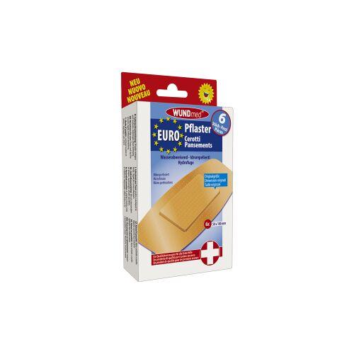 WUNDmed GmbH & Co. KG WUNDmed® Wundversorgung Euro-Pflaster, Mikroperforierte Wund-Pflaster ideal für die Versorgung kleinerer Wunden, 1 Packung = 6 Stück, 50 x 100 mm