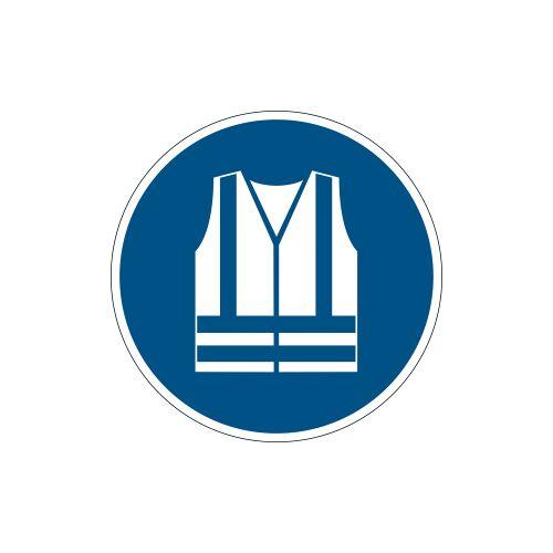 DURABLE · Hunke und Jochheim GmbH & Co. KG DURABLE Warnweste benutzen Sicherheitszeichen, Sicherheitsschild zur Kennzeichnung von Gefahrenbereichen, 1 Stück