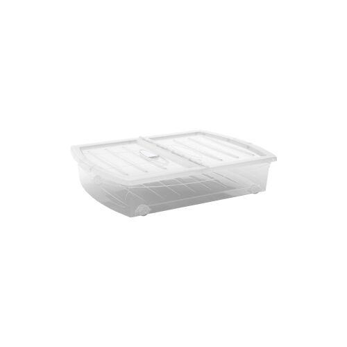 Keter Germany GmbH KIS Spinning Box Unterbettbox XL, 60 Liter, Unterbettbox mit Rollen, Farbe: transparent