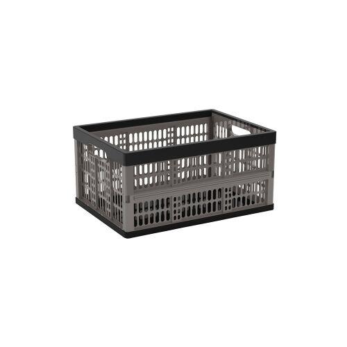 Keter Germany GmbH KIS Flip Box Klappbox, zusammenklappbare Box, Schwarz / Grau