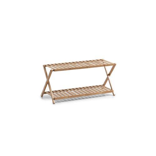 Zeller Present Handels GmbH Zeller Bamboo Schuhregal mit 2 Ablagen, Stabiles Bambus-Schuhregal mit 2 Ebenen, Maße: ca. 70 x 30 x 32 cm