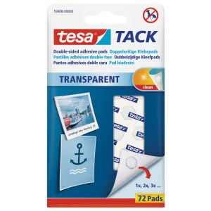 tesa SE tesa® TACK Klebepads, Doppelseitige, spurlos ablösbare Klebepads, 1 Packung = 72 Pads