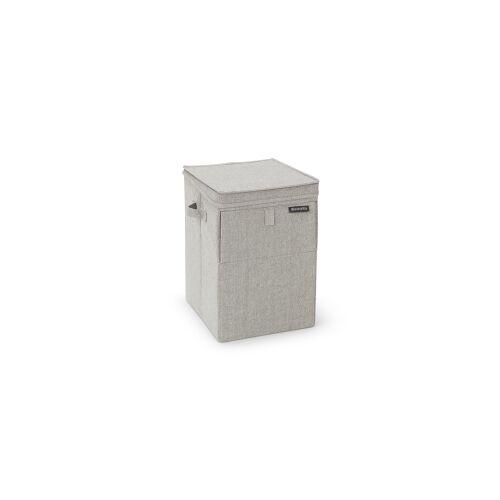Brabantia International B.V. Brabantia Stapelbare Wäschebox, 35 Liter, Wäschesammler ideal zum Sortieren Ihrer Wäsche, Farbe: Grey