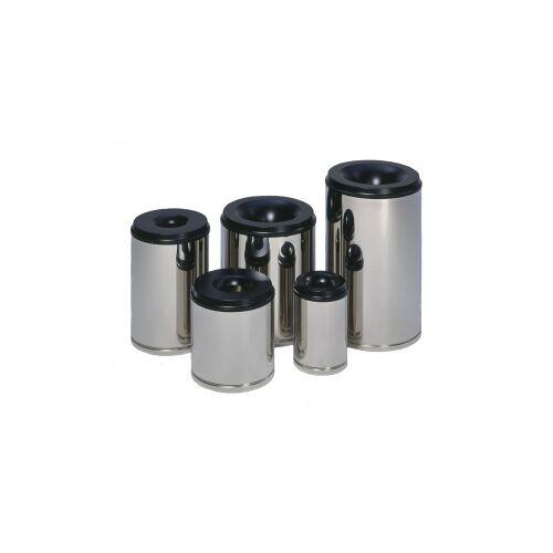 VAR GmbH VAR Papierkörbe selbstlöschend, in Edelstahl - Ausführung, Inhalt: 110 Liter
